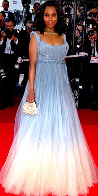 Kerry Washington in Jean Paul Gaultier couture, carrying Swarovski