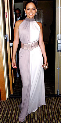 Jennifer Lopez in Michael Kors, carrying Swarovski