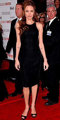 Angelina Jolie in Versace and Christian Louboutin