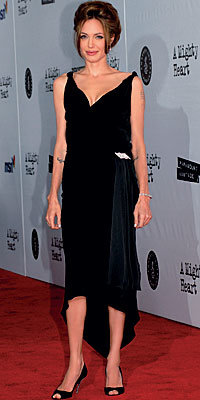 Angelina Jolie in Christian Louboutin for Louis Azzaro heels