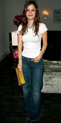 Rachel Bilson in Kova & T and 7 For All Mankind, carrying Mercuryduo