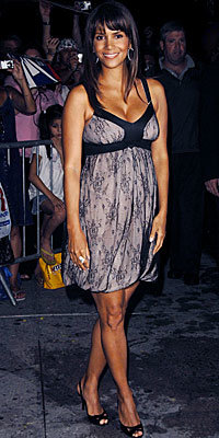 Halle Berry in Galliano and Gunmetal