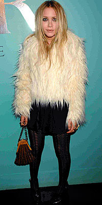 Mary-Kate Olsen, Chubby Furs, fur coat, Topshop, celebrity style, trends