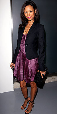 Thandie Newton in Stella McCartney and Jimmy Choo