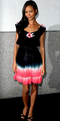 Thandie Newton in Matthew Williamson and Givenchy