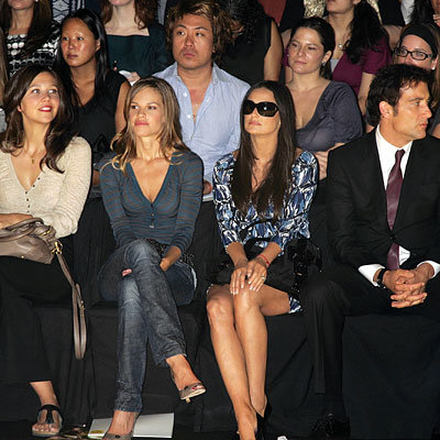 Maggie Gyllenhaal, Hilary Swank, Demi Moore, Clive Owen, Fashion Week Day Two