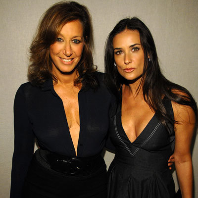 Donna Karan, Demi Moore, Fashion Week Day Eight