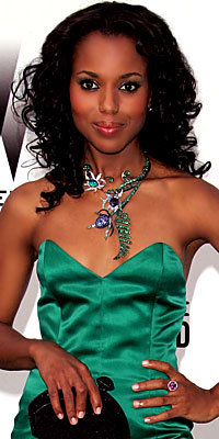 Kerry Washington, gems, necklace, Boucheron, jewelry