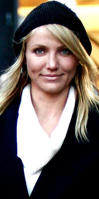 Cameron Diaz, Knit Berets, celebrity trends, hats