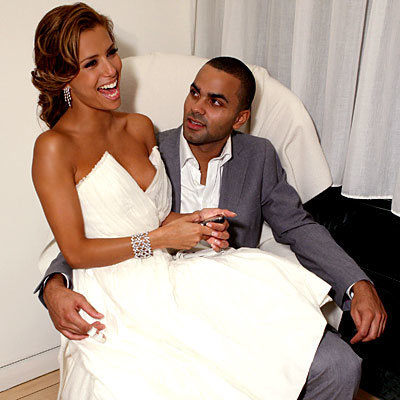 Divorced husband and wife: Tony Parker and Eva Longoria at their wedding