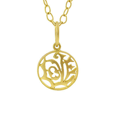 Cathy Waterman Gold Love Charm