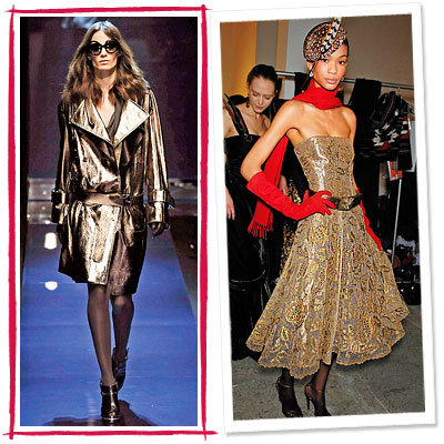 Fall Trends, Metallic, Ralph Lauren, Salvatore Ferragamo