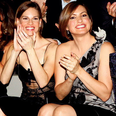Hilary Swank, Mariska Hargitay, Armani Prive, Paris Fashion Week