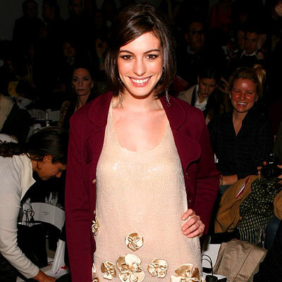 Anne Hathaway, Erin Fetherston, NY Fashion Week Day One