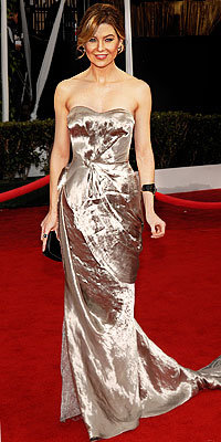 Ellen Pompeo, Nina Ricci, SAG Awards, Grey's Anatomy, celebrity trends, sweetheart necklines, celebrity style