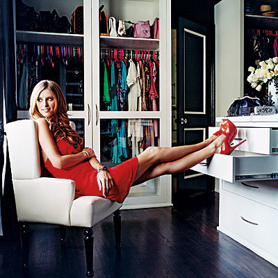 Nicky Hilton in her custom closet