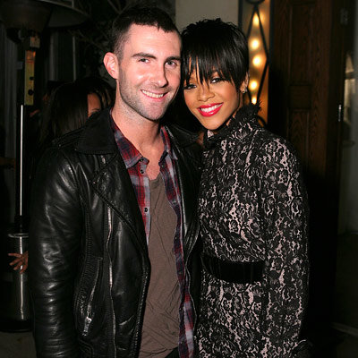 Adam Levine, Rihanna, In Style's Grammys Salute to Fashion, Los Angeles