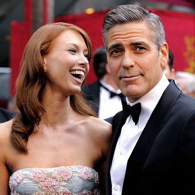 George Clooney, Sarah Larson, 2008 Academy Awards, Oscars red carpet arrivals