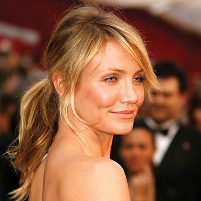 Cameron Diaz, ponytails, oscar trends, beauty trends, celebrity style