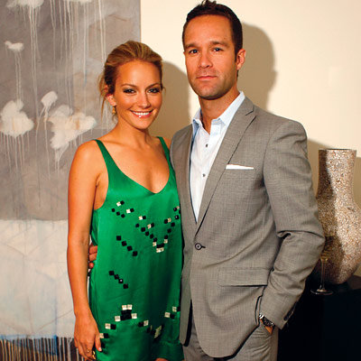 Becki Newton in Sass and Bide, Chris Diamantopoulos, In Style and The Gersh Agency Upfront Party, New York City