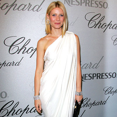 Gwyneth Paltrow in Lanvin and Chopard diamonds, Chopard trophy presentation and after-party, 2008 Cannes Film Festival, Fashion