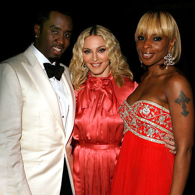 Madonna, Sean 'P. Diddy' Combs, Mary J. Blige, amfAR Cinema Against AIDS gala, 2008 Cannes Film Festival, Fashion