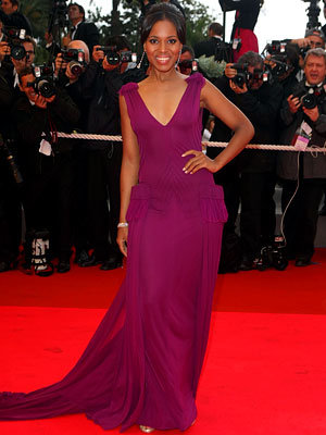 Kerry Washington in Gaultier, Premiere of The Palermo Shooting, 2008 Cannes Film Festival, Red Carpet Report, Fashion