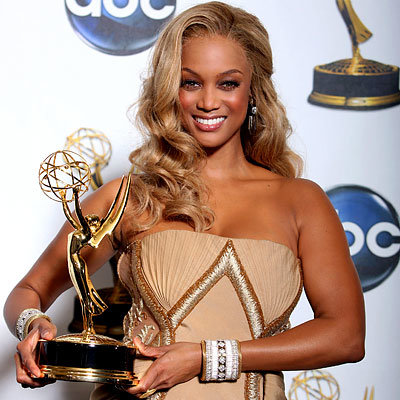 Tyra Banks in Georges Chakra, 2008 Daytime Emmy Awards, Emmys, Fashion