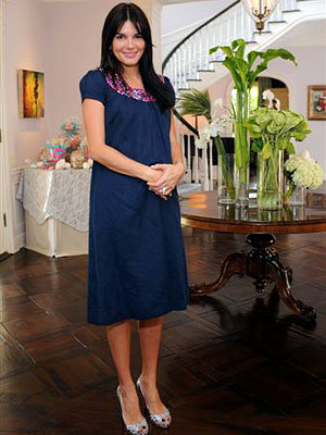 Angie Harmon's Baby Shower, Los Angeles, Mommy To Be Take Three
