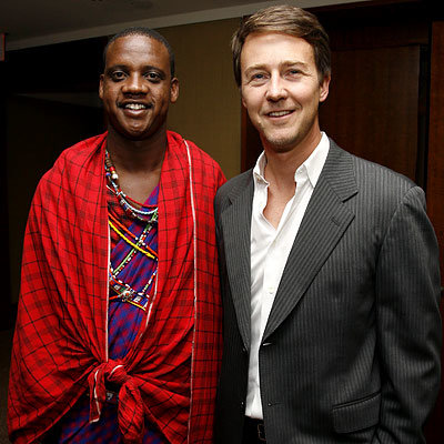 Ed Norton, Ed Norton Hosts a Benefit for the Maasai Wilderness Conservation Fund, New York City