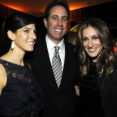 Jerry Seinfeld, Jessica Seinfeld, Sarah Jessica Parker in Christopher Kane, Baby Buggy benefit, New York City