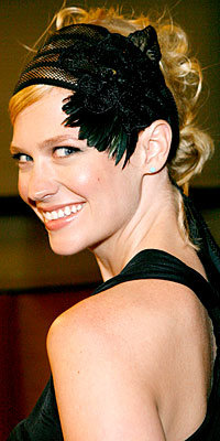 January Jones, Feathered Accessories, The Look, star trends