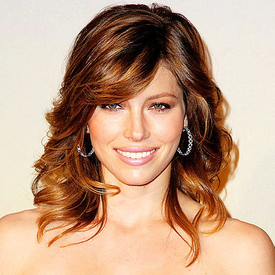 Jessica Biel - Top Hair Try-Ons of 2009 - Heavy Side-Swept Bangs - Get Hollywood Hair