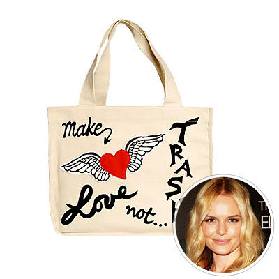 Stars Love Eco-Friendly Totes, Make Love Not Trash, Kate Bosworth