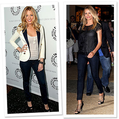Stars Best Jeans: Look Your Best-Ankle Grazing Jeans-Blake Lively-Cameron Diaz