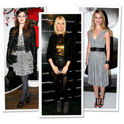 Claire Danes in Burberry - Gwyneth Paltrow - Rachel Bilson in Temperley London - Stars in Fall Trends - Leather Jackets
