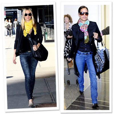 Molly Sims - Madewell - Halle Berry - Bright Scarves - Instant Outfit-Makers - Fall 09 - Trends