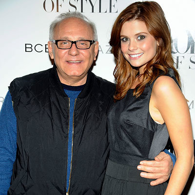 Max Azria and Joanna Garcia, BCBG show, Fashion Week Day 1