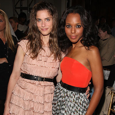 Amanda Peet and Kerry Washington - Jason Wu - Day 2 - New York Fashion Week