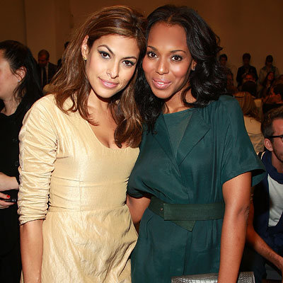 Eva Mendes - Kerry Washington - Calvin Klein - New York Fashion Week