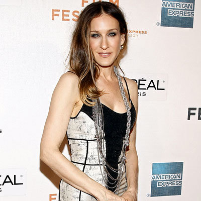 Sarah Jessica Parker in Narciso Rodriguez, Premiere of Wonderful World, 2009 Tribeca Film Festival
