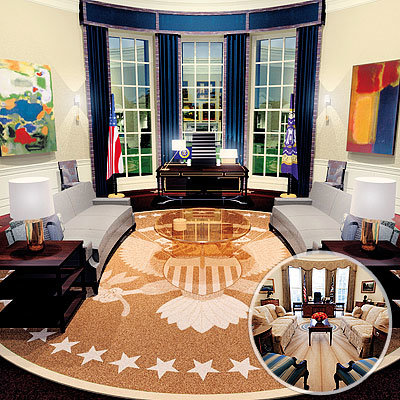 Inauguration Central Barack Obama Oval Office Gossip Girl Set Designers The Eclectics
