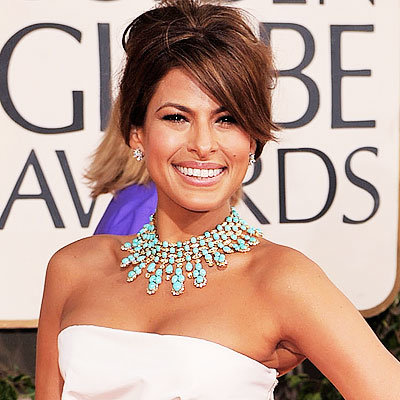 2009 Golden Globes, Jewelry Trends, Statement Necklaces, Eva Mendes