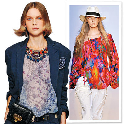 Spring Trends 2009, Clothes We Love, Print Blouse