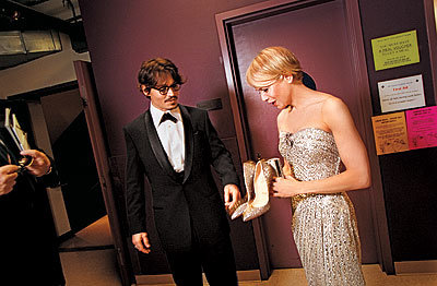 Johnny Depp and Renee Zellweger, Oscars 2008, Backstage