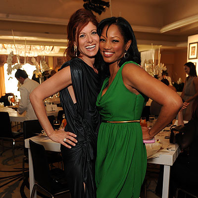 Debra Messing, Garcelle Beauvais, 2009 InStyle and Diamond Information Center Lunch and Fashion Preview, Los Angeles
