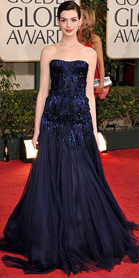 Anne Hathaway, Armani Prive, Golden Globes