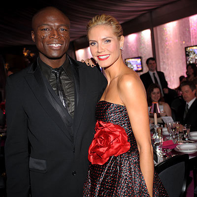 Seal, Heidi Klum, InStyle Viewing Dinner, Golden Globes