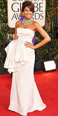Eva Mendes in Dior at the 2009 Golden Globes