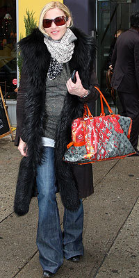 Madonna carrying Louis Vuitton